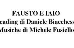Fausto e Iaio – Reading di Daniele Biacchessi